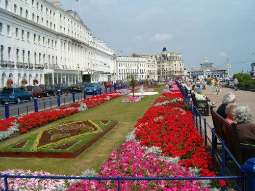Flowers on the Eastbourne parade