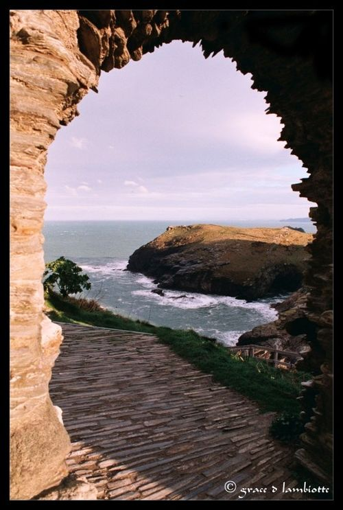 View from the Tintagel Castle, Cornwall