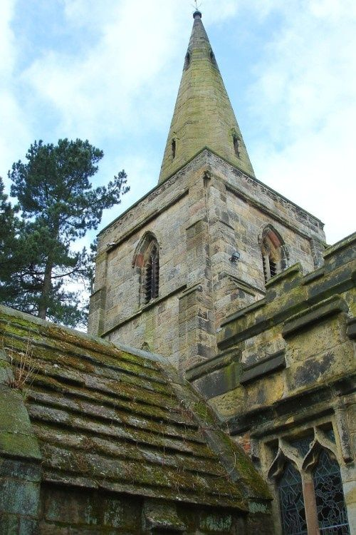 The Church of St Mary the Virgin, Denby, Derbyshire dates from 1135.