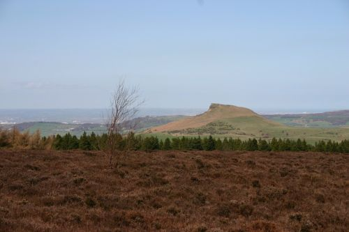 Roseberry topping, on the edge of North Yorkshire and Middlesbrough in the distance
