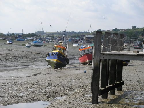 Low tide at Leigh-on-Sea, Essex, in Sept. of 2005