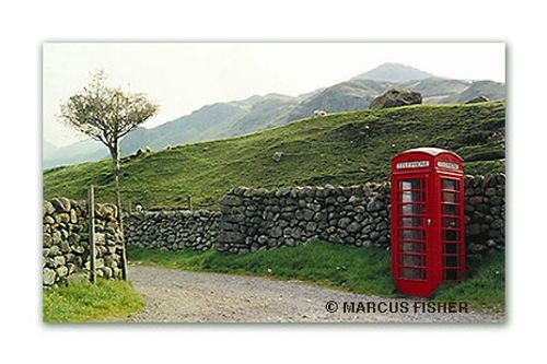 Call Box in Boot, Lake District, County Cumbria, England