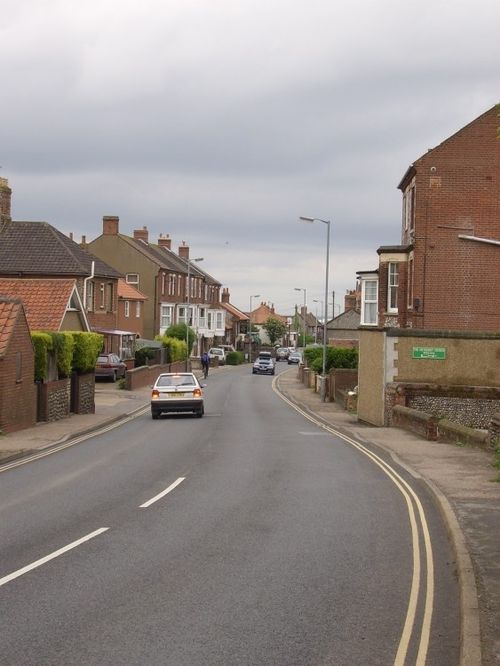 Main road through East Runton, Norfolk