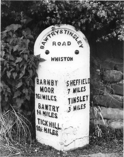 Road marker, Whiston, South Yorkshire