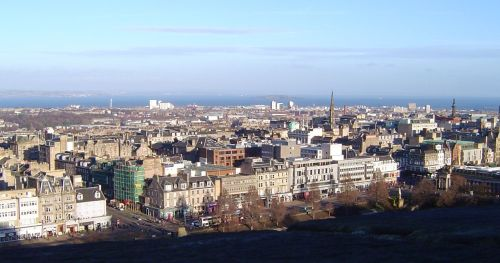 View towards the Firth of Forth (and Fife) from Edinburgh Castle.