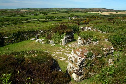 Chysauster neolithic village in Cornwall
