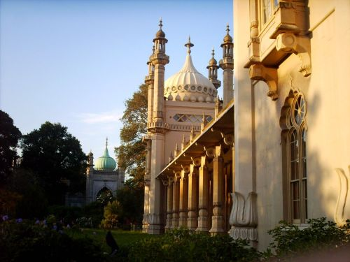 Brighton, The Royal Pavilion on a summers afternoon.