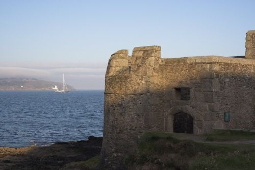 Little ST dennis Castle on the Pendennis penisular, Falmouth. The former Keep for Pendennis Castle