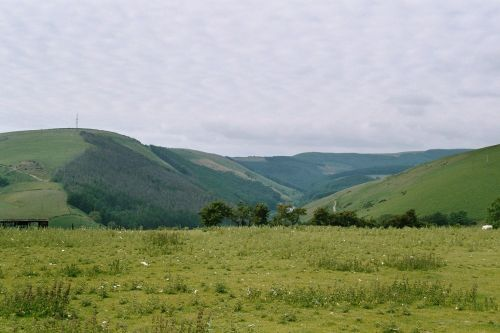 Bridgend looking towards Garw valley