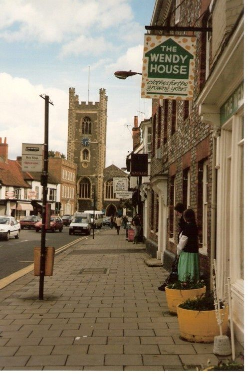 Henley on Thames. Down the street of Henley