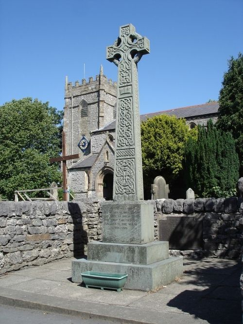 A picture of the WW1 Memorial, at Ingleton Village, North Yorkshire.