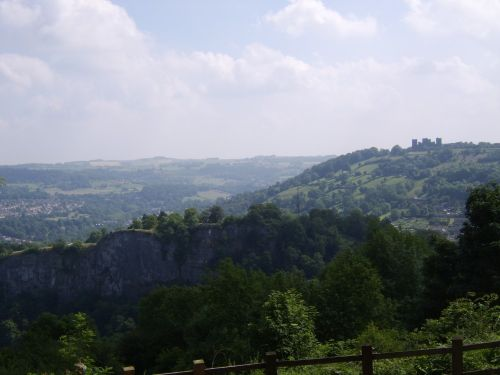 view from The Heights of Abraham Caverns & Hilltop park, Matlock Bath, Derbyshire