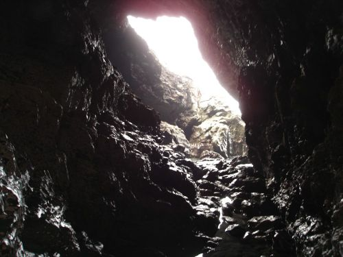 Inside Merlin's Cave, (A very spiritual place), Tintagel, Cornwall.