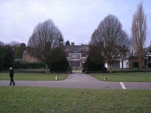 Wythenshawe Hall in Wythenshawe Park, Greater Manchester