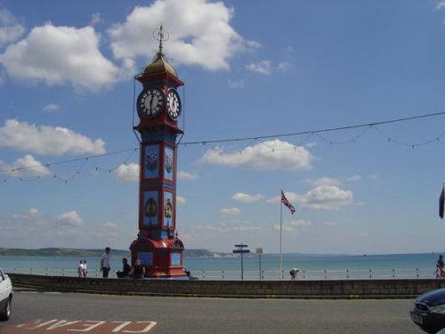 the clock tower on Weymouth seafont