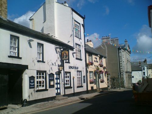 A veiw of 2 pubs in Ulverston, Cumbria