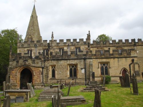 St Anne's Parish Church, Baslow, Derbyshire, dates from the thirteenth century.