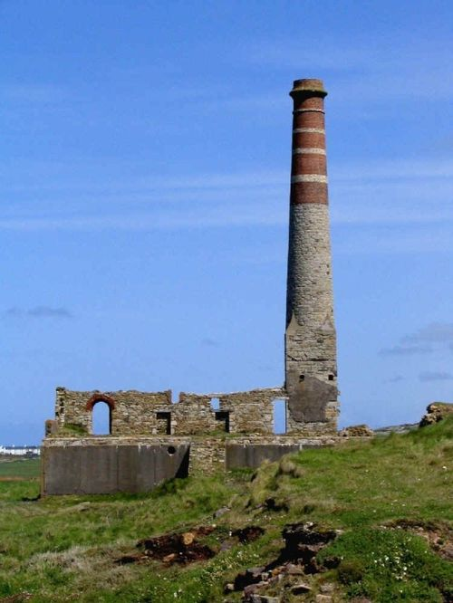 Levant Mine Compressor House. - A National Trust property near St. Just, Cornwall.