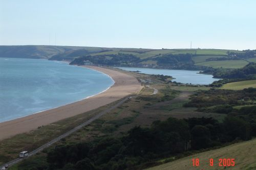 Torcross on Slapton Ley in Devon