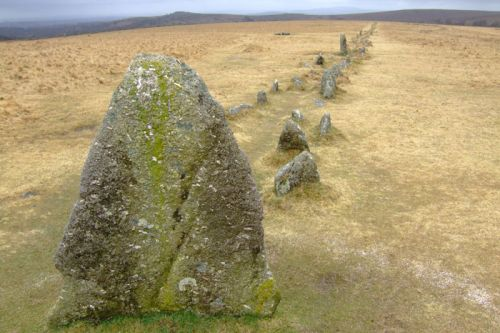 Merrivale rows also know has the Plague Market, - On Dartmoor National Park, Devon