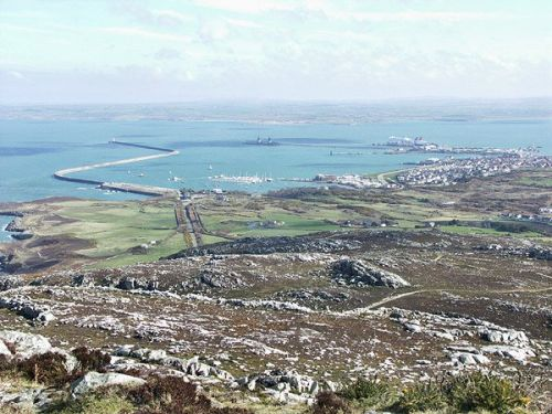 Holyhead and Harbour, from Holyhead Mountain, Anglesey