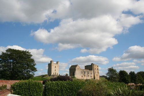 The Castle at Helmsley, North Yorkshire, as viewed from the Walled Gardens @ the rear.