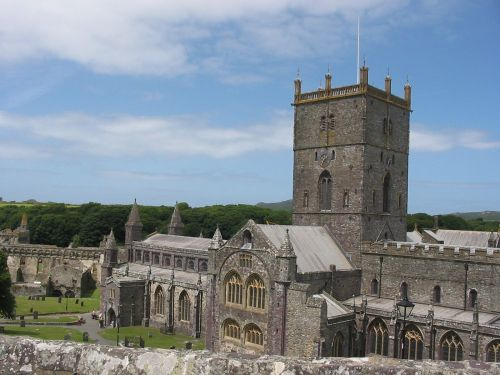 the amazing cathedral at St. David's, Pembrokeshire, summer 2006