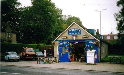 Goathland - Scripps Garage in the TV series 'Heartbeat'