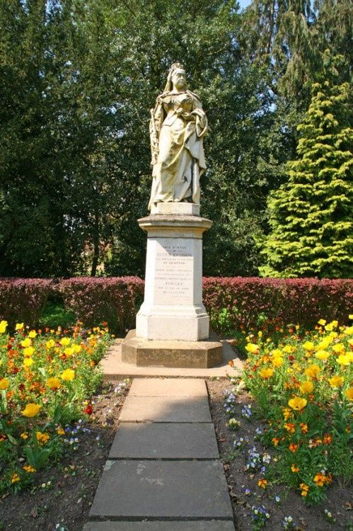 The Statue of Queen Victoria in the Abbey Grounds, Abingdon, Oxfordshire. -