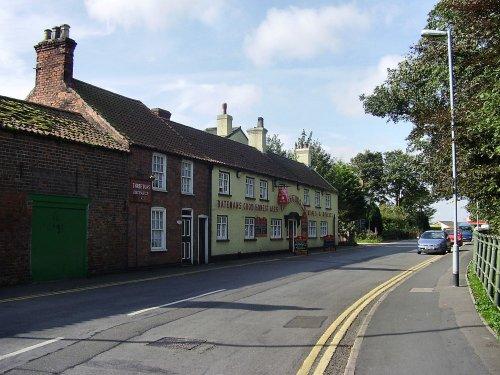 Ingoldmells village, Lincolnshire. The Three Tuns pub