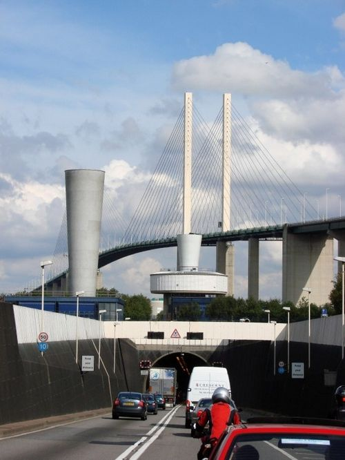 The Dartford Crossing on the Thames in Kent