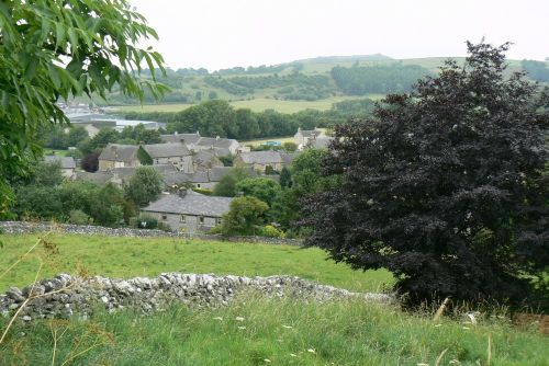 Hartington Town from the trail above the town