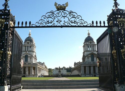 Royal Naval College from The Water Gate, Greenwich