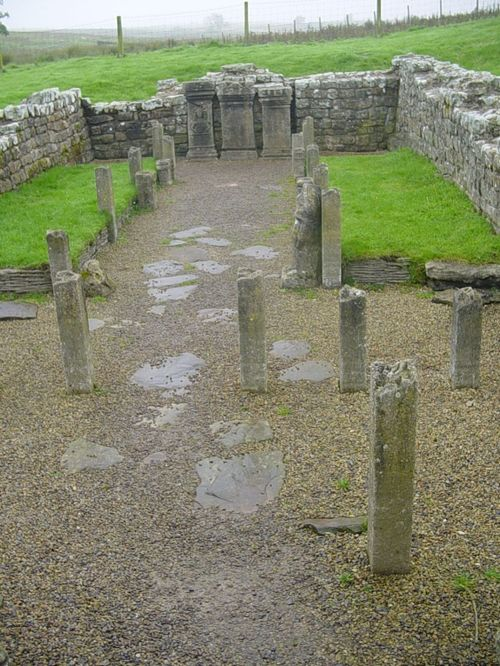 Mithraeum temple near Brocolitia roman fort Milecastle