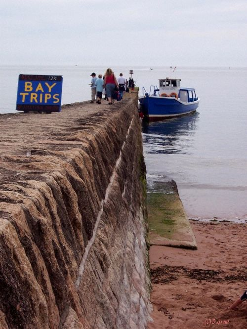Taken in 2006. Boats trips leave for a trip round the Bay on Sunday's. Dawlish, Devon