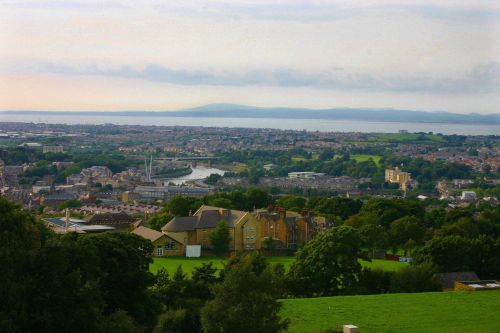 view from top of Williamson Gallery (Ashton Memorial) Lancaster