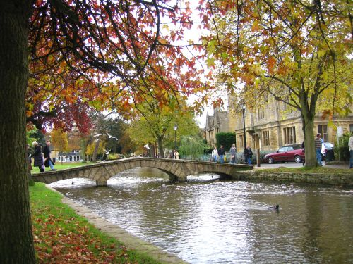 The river, Bourton-on-the-Water, in the Cotswolds.