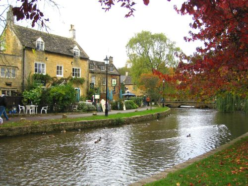 The river, Bourton-on-the-Water, Gloucestershire.