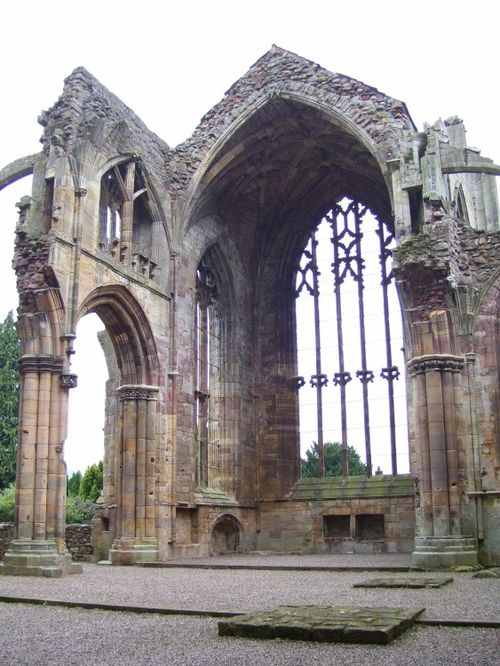 Melrose Abbey Ruins, Melrose, Borders, Scotland.