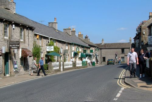 The main street in Castleton in the Peak District, Derbyshire.