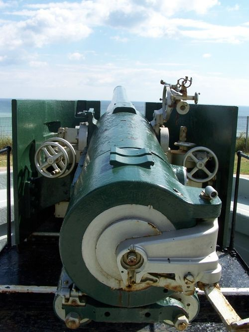 A big gun at the Fort looking over the sea at Newhaven, East Sussex.