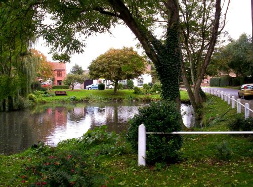 The village pond, Somerleyton, Suffolk.