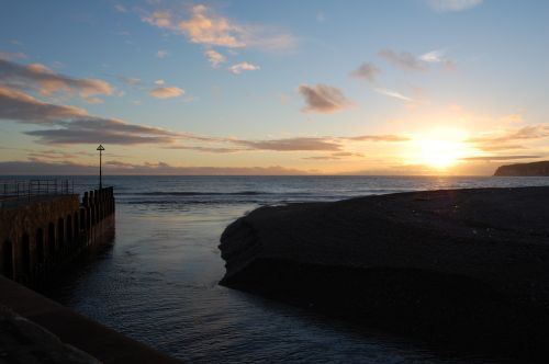 Axmouth, Devon. Winter Sunset.