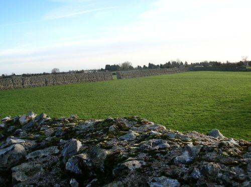 The wall of Burgh Castle Roman Fort, Burgh Castle, Norfolk