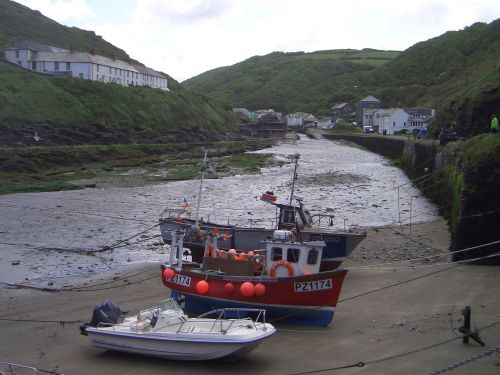 Looking back at Boscastle, Cornwall
