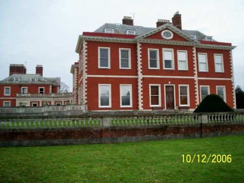 Side view of the main building at Fawley Court, Henley on Thames