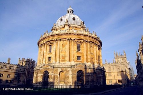 Oxford's famous Radcliffe Camera with the Old Bodleian seen early on January 14th 2007