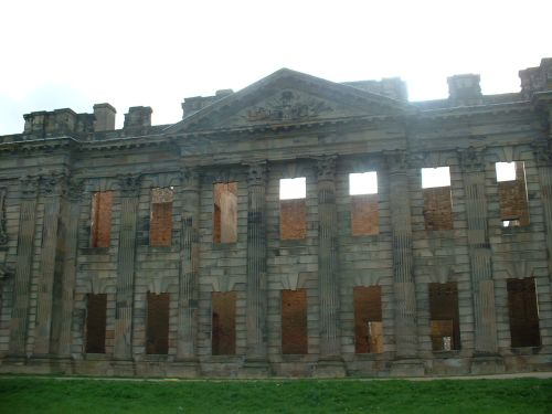 This is the back of Sutton Scarsdale Hall, Sutton Scarsdale, Derbyshire
