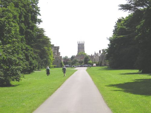 The Broad Walk in Cirencester Park, Cirencester, Gloucestershire