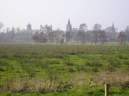 A view across Christ Church Meadow, Oxford
